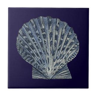 Indigo Shells VIII Tile