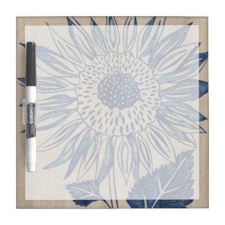 Indigo Sunflower Dry Erase Board