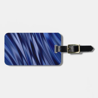 Indigo & violet blue satin style stripes luggage tag