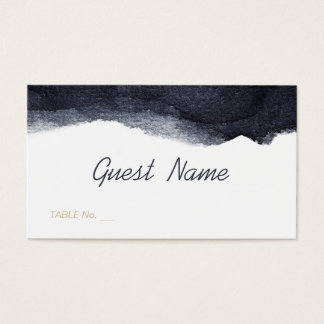 Indigo watercolor modern simple wedding place card