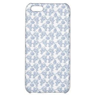 Indigo, White Ethnic Floral Print iPhone 5c Case