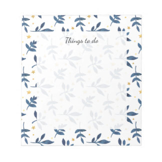 Indigo with gold faux stars notepad