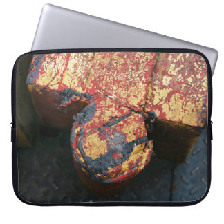 Indistrial photographic detail laptop sleeve