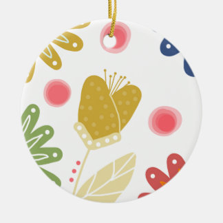 Individual You. Colourful flower design Christmas Ornament