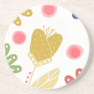 Individual You. Colourful flower design Coaster