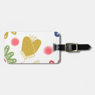 Individual You. Colourful flower design Luggage Tag