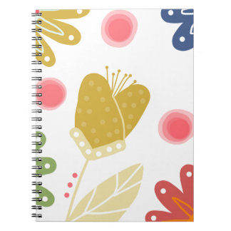 Individual You. Colourful flower design Notebook
