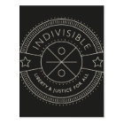 Indivisible, with liberty and justice for all. postcard