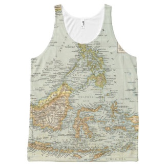 Indo china and Malaysian Archipelago All-Over Print Tank Top