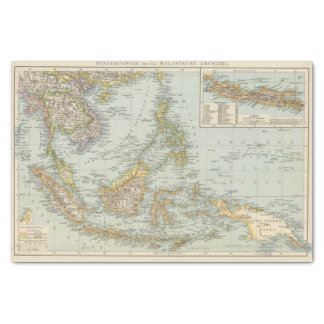 Indo china and Malaysian Archipelago Tissue Paper