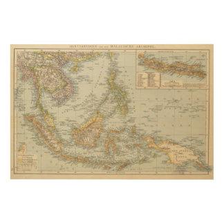 Indo china and Malaysian Archipelago Wood Print