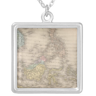 Indochina archipelago of Asia Silver Plated Necklace