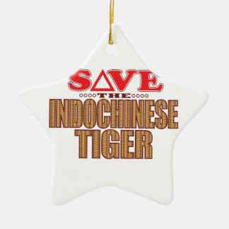 Indochinese Tiger Save Ceramic Star Decoration
