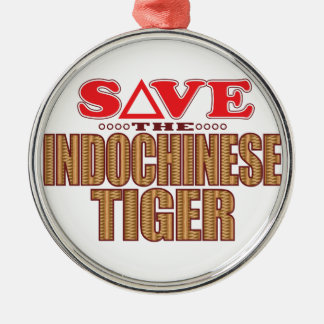 Indochinese Tiger Save Christmas Ornament