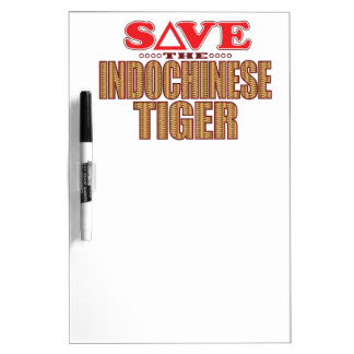 Indochinese Tiger Save Dry Erase Board