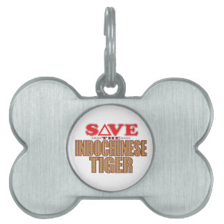 Indochinese Tiger Save Pet Name Tag