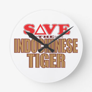 Indochinese Tiger Save Round Clock