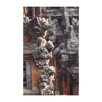 Indonesia, Bali, Ubud, Stone carvings of Hindu Canvas Print