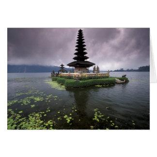 Indonesia, Bali, Ulun Danu Temple. Card