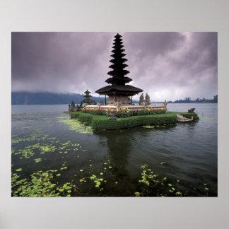 Indonesia, Bali, Ulun Danu Temple. Poster