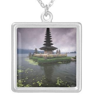 Indonesia, Bali, Ulun Danu Temple. Silver Plated Necklace