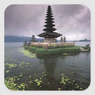 Indonesia, Bali, Ulun Danu Temple. Square Sticker