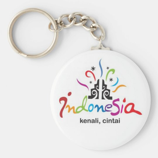 Indonesia Basic Round Button Key Ring