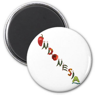 Indonesia Chili Peppers 6 Cm Round Magnet