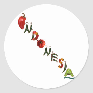 Indonesia Chili Peppers Round Sticker
