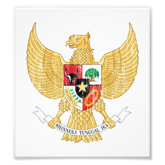Indonesia Coat Of Arms Photograph