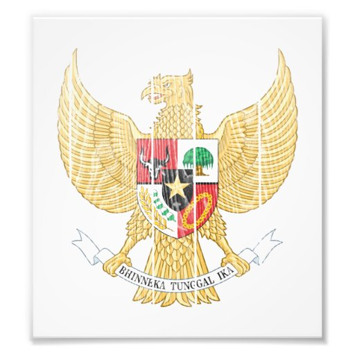 Indonesia Coat Of Arms Art Photo