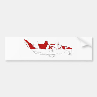 Indonesia country flag map shape silhouette bumper sticker
