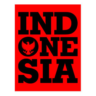 Indonesia Design Postcard