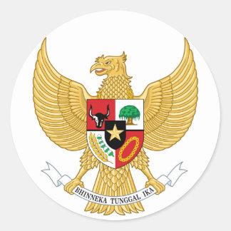 indonesia emblem classic round sticker