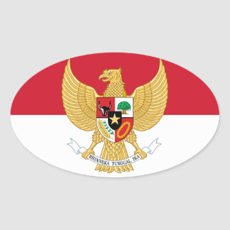 indonesia emblem oval sticker