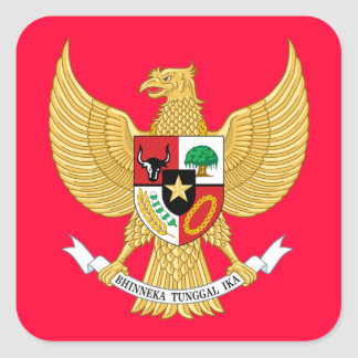 indonesia emblem square sticker