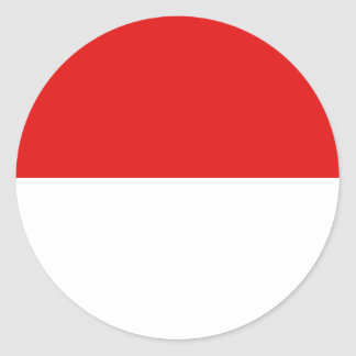 Indonesia Fisheye Flag Sticker