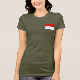 Indonesia Flag and Map dk T-Shirt
