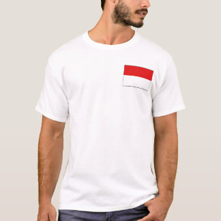 Indonesia Flag and Map T-Shirt