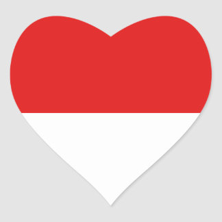 Indonesia Flag Heart Sticker