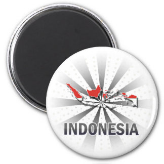 Indonesia Flag Map 2.0 Magnet