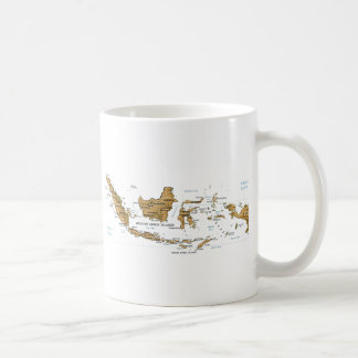 Indonesia Flag ~ Map Mug