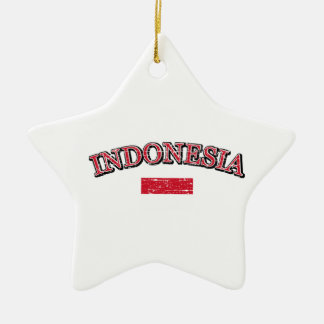 Indonesia football design christmas ornament