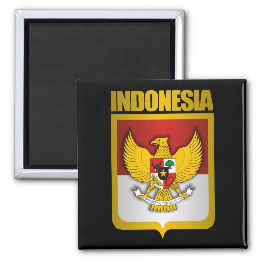 """Indonesia Gold"" Magnets"