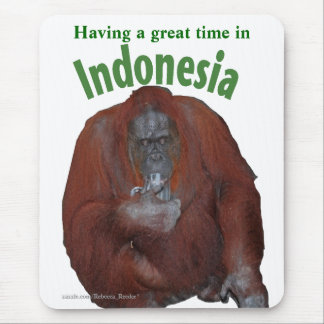 Indonesia Great Ape Vacation Mouse Pad