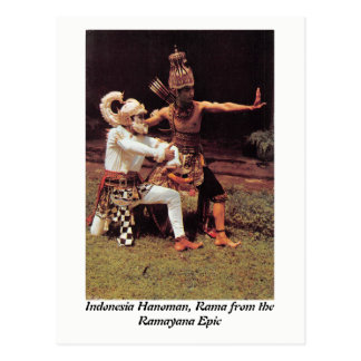 Indonesia Hanoman and Rama from the Ramayana Epic Postcard