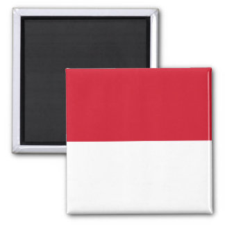 Indonesia ID, Jakarta, Flag Square Magnet