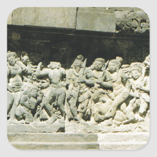 Indonesia,  Java, Ramayana carving, Prambanan Square Sticker