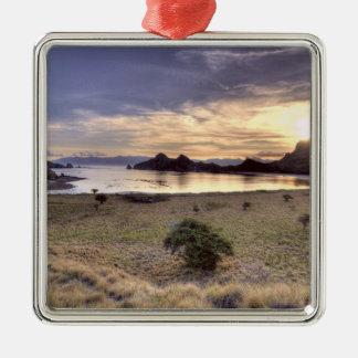 Indonesia, Komodo National Park. Sunset on one Christmas Ornament