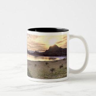 Indonesia, Komodo National Park. Sunset on one Two-Tone Coffee Mug